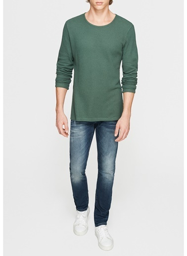 Mavi Uzun Kollu Tişört Yeşil